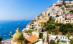 Colourful houses on the Amalfi coast
