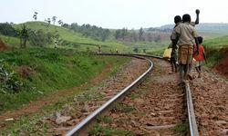 Railway children in Uganda