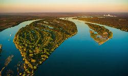 Zambezi river aerial