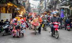 Traffic of motorbikes in the City