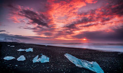 Ice beach in Southern Iceland