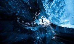 Inside a glacier in Southern Iceland