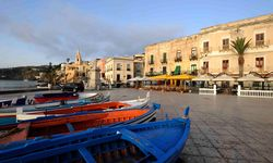 Boats harboured in Lipari