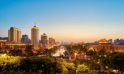 Xi'an City at Dusk