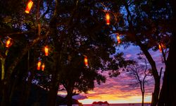 Lanterns and sunset in Costa Rica