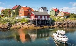 Brightly Painted Houses - Lofoten Islands