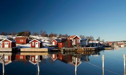 Red Huts on the Swedish Archipelago