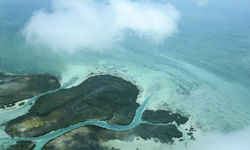 Ambergis Caye Belize Aerial