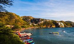 Boats docked in Taganga