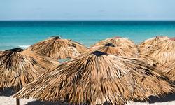 Beach umbrellas, Cuba