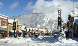 Banff Village in the Rockies Mountain
