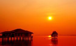 Red Sunset on Pangkor Laut