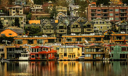houses on the waterfront, Seattle