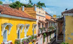 Colonial balconies in Cartagena