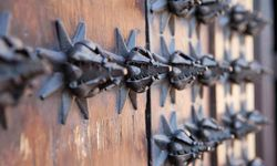 Metal Detailing on a Spanish Wooden Door