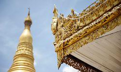 Pagoda detailing in Myanmar