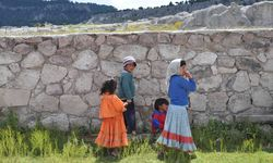 Family in the Copper Canyon, Mexico