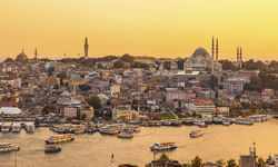 Istanbul's Golden Horn at Sunset