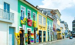 Colourful Street in Salvador
