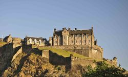 Pictured here, is one of Scotland's famous landmarks, Edinburgh Castle