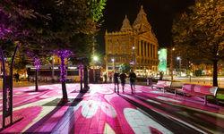 Night Color Street of Budapest