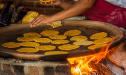 Cooking tortillas in Guatemala