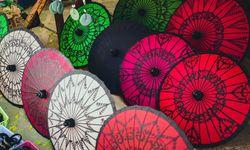Traditional Burmese umbrellas
