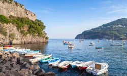 A collection of boats in Ischia