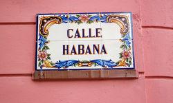 Street sign in Havana