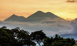 Mountains through the Sunrise