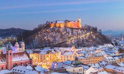 Ljubljana Castle winter view