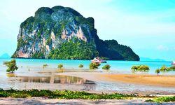 Rocky Shoreline of Thailand's East Coast