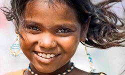 Smiling girl in Tamil Nadu