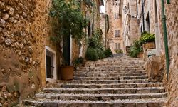 A Cobbled Staircase in Spain