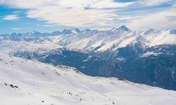 Bright snow capped peaks