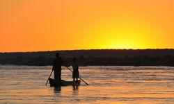 Boat on the Zambezi
