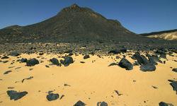 Black desert mountains