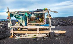 A Fisherman's Hut on Black Sand in Lanzarote