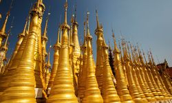 Golden stupas