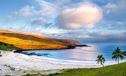 Anakena Beach on Easter Island