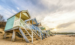 An image of the beach huts in Holkham