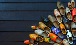 Colourful clogs