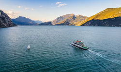 Car ferry on Lake Garda