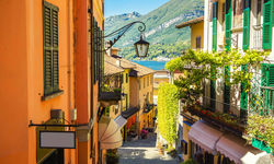 Old town street in Bellagio city