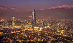 Santiago Cityscape through the Night Mist