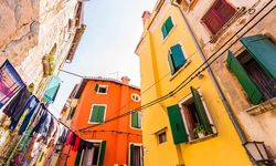 Rovinj colourful houses