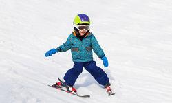 Child skiing in Austria