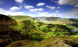 A hilltop view of Ullswater, Lake District