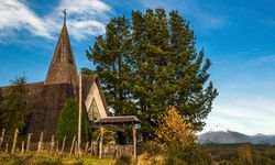 Church in Chilean Lake District