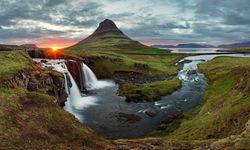 Reykjavik mountain sunset